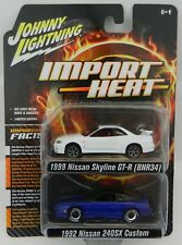 2018 Johnny Lightning 2-PACK *IMPORT HEAT* 1999 Nissan Skyline & 1992 240SX NIP
