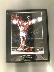 Lithograph Autographed Signed by Muhammad Ali On 3-15-1998 Framed with Glass