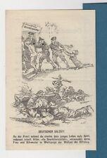 flugblatt 1941 Alemán Soldados con dibujos animados