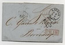 """Stampless Cover Germany Aachen 1853 """"45"""" O/P PR 111 Postal History"""