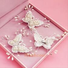 Wedding Bridal Bridemaid Fashion Pearl Crystal Butterfly Hair Pin Clip Comb New