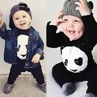 Panda Bébé Garçons Filles Petit Enfant Coton Barboteuse Combinaison Grenouillère