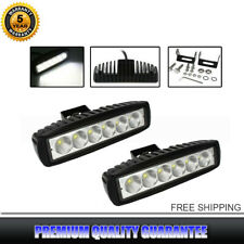 2x 6 inch Off Road 18W LED Light Bar Fog Lamp Work Light 12V For SUV Pickup Boat