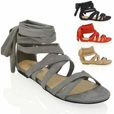 Faux Suede Evening Shoes Women's Gladiator