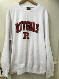 Rutgers Scarlet Knights Colosseum Arch & Logo Crew Neck Sweatshirt White XXL