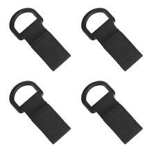 4pcs Tactical Nylon Strap Molle Hanging Belt Carabiner Hook Webbing Black
