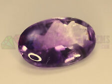 24ct Natural Amethyst 24x15mm Oval Big Loose Gemstone Faceted Pavilion + Cab Top