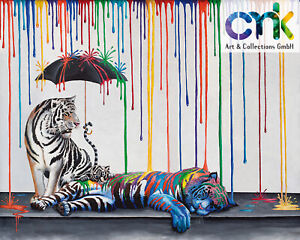 Michael Summers Artwork limited edition gyclee : Catnap Mural