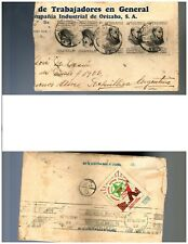 s741 MEXICO Sc 748 (5) Cover Nogales Ver. to Argentina Receipt Esperanto Sheets