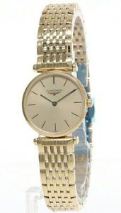 LONGINES La Grande 24MM Classique Gold Dial Bracelet Women's Watch L42092328