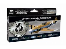Luftwaffe Maritime & Tropical RLM Colors: 8 Airbrush Paints (Vallejo 71164)