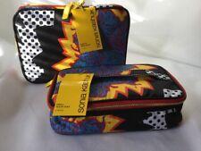 Sonia Kashuk Small Train Case & Always Organized Cosmetic Bag Wild  print NWT