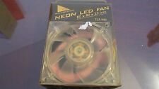 Ventilador Cooler Neon Naranja Orange Color 8x8x2,5cms 80x80x25mm Cooler Master