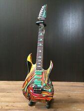 Mini Guitar Steve Vai Collectible 7 String Universe Swirl Guitar Replica