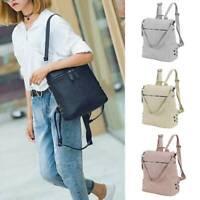 Soft Woman Faux Leather Backpack Shoulder Travel HandBag Backpack Rucksack