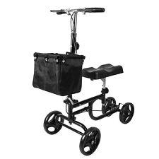 ELENKER Steerable Foldable Knee Walker Medical Scooter Turning Brake Basket