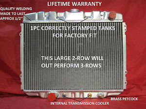 "1967 1968 1969 1970 Ford Mustang Mercury Cougar Big Block 24"" Aluminum Radiator"