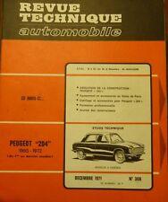 Comme neuve de stock Revue technique PEUGEOT 204 1965 à 1972 RTA 308 1971 304