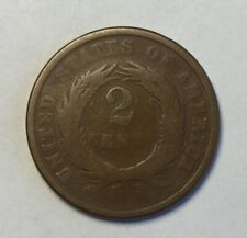 1864 Two Cent Copper Coin United States 2c