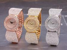 AOYI Fashion Dress Luxury  Diamond Case Womens Ladies Bracelet Watches Quartz