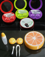 Travel Pocket Fruit Style Soak Storage Contact Len Case Box Holder Container cn