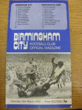 18/03/1972 Birmingham City v Huddersfield Town [FA Cup] (Creased). Trusted selle
