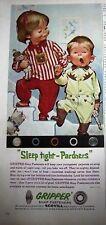 1961 SCOVILL Gripper Childrens Boys Girls Cowboy Stripe Pajamas Ad
