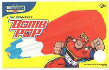Blue Bunny Bomb Pop Original (Yellow Background) Ice Cream Truck Decal/Sticker