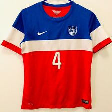World Cup 2014 Usmnt Team Usa Soccer Jersey Bradley #4 Youth Kids Xl or Adult Xs