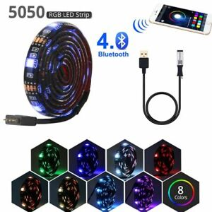 Bluetooth Wifi LED Strip Light RGB Tape USB 5V Light PC Lamp Waterproof Flexible