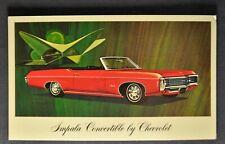 1969 Chevrolet Impala Convertible Postcard Brochure Excellent Original 69