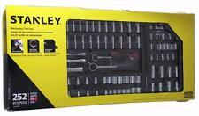 "NIB STANLEY Mechanics Tool Set 252 Pieces 1/4"", 3/8"" Drs. SAE MM Case w/ Handle"