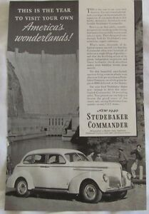 1940 Studebaker Commander, Original Car Advertisement, Vintage Print Ad