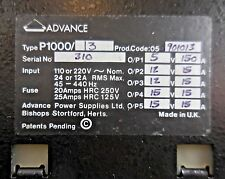 Advance Power Supplies Ltd. P1000-13, 901013 Adjustable Power Supply