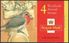 Gb Qeii Barcode Booklet Lx8 1995 Worldwide Christmas Robin Stamps Sg 1900 x 4
