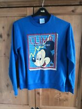 Vintage Blue Climb Man of the Year Mickey Mouse Sweatshirt Jumper SIZE M