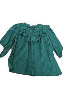 New Zara Green Boho Top S