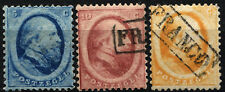 NETHERLANDS SC #4 #5 #6 Stamps Postage King William III 1864 USED