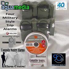 Incl. 4 Campsite Perimeter Security Trip Alarm System Bears/Thieves 12 batteries
