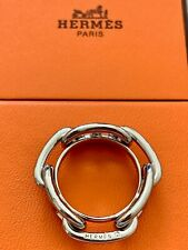 Lovely Hermes Chaine D'ancle metallic Scarf Ring  + Box!