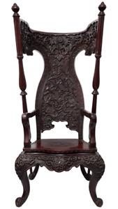 Rare Lady Fairfax Throne Rosewood(红酸枝) Chair Antique Vintage