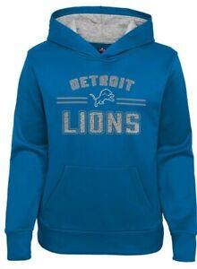 NFL DETROIT LIONS GIRLS FLEECE HOODIE - SWEATSHIRT Small 5/6x NFL TEAM APPAREL