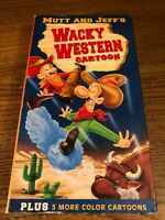 Mutt And Jeff  Wacky Western VHS VCR Video Tape Movie Used Cartoon