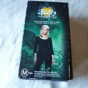BUFFY VAMPIRE SLAYER Collector's Edition VHS Season 3 Part 1 1998 Horror Comedy