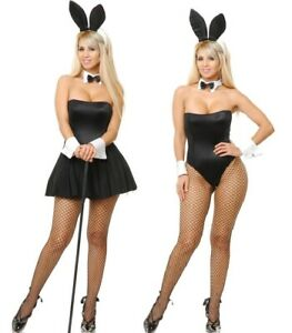 Charades Playtime Bunny Sexy Playboy Bunny Costume - 11-13 Large #4313