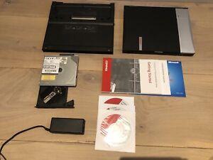 VINTAGE RETRO COMPAQ N400c LAPTOP + Mobile Extension Unit + CD ROM + BAG