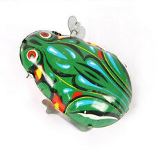 1PCS Baby Kids Developmental Cute Metal Frog Chain Toy Wound-Up Funny Frog