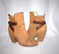 Rag & Bone Kinsey Camel Nubuck Ankle Boots Size: EU 39.5 US 9.5