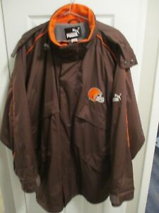 Vintage Puma Cleveland Browns Men's Fleece Windbreaker and Pants NFL Size XL