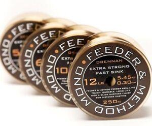 Drennan Feeder & Method Monofilament Fishing Line 250metre 12lb